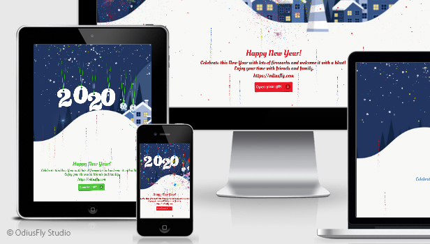 Merry Christmas & Happy New Year Card v3 Download